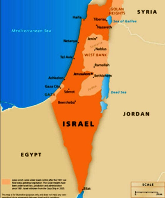 Israeli Territory Off The MapMarch End Times Research - Israeli map