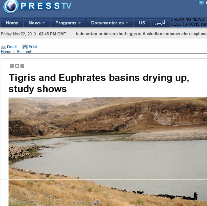 Euphrates River Drying Up euphrates river drying...