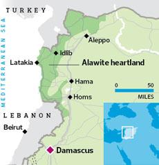 Location of Latakia, Syria