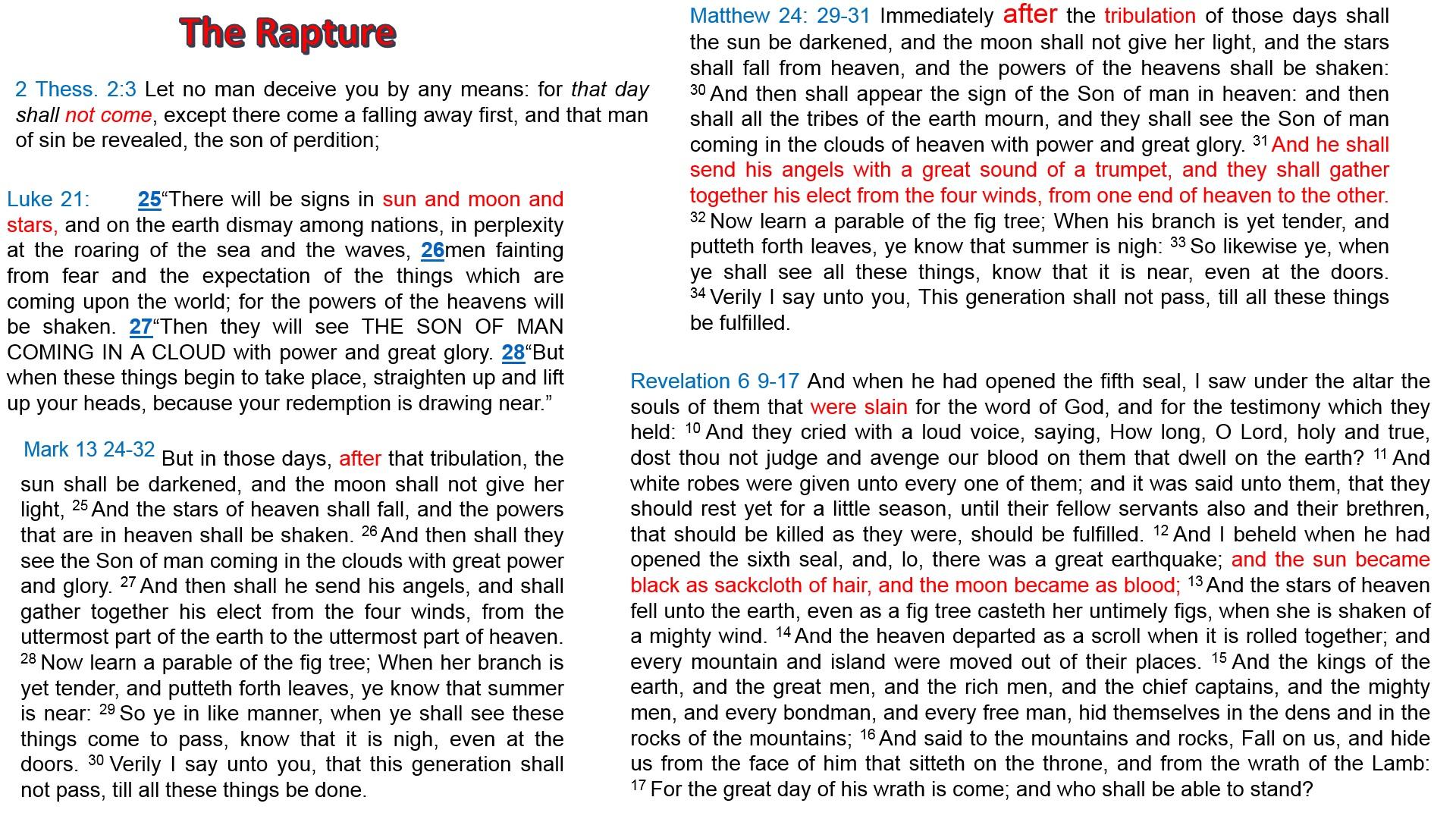 Mid trib rapture scriptures