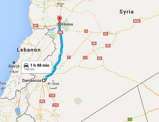 damascus to homs