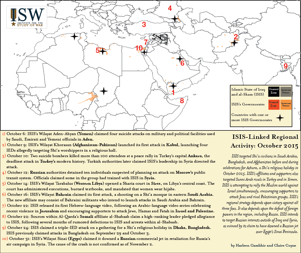 ISIS global October 2015