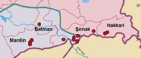 Hakkari and Sirnak provinces