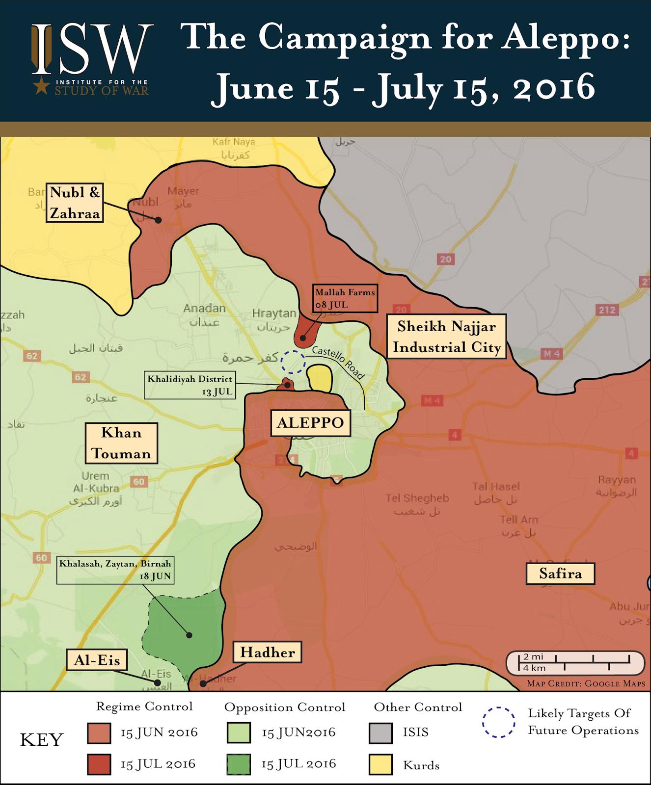 Regime Campaign - Aleppo JUL 2016-01