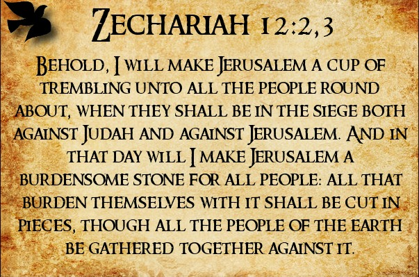 Zechariah 12v2,3
