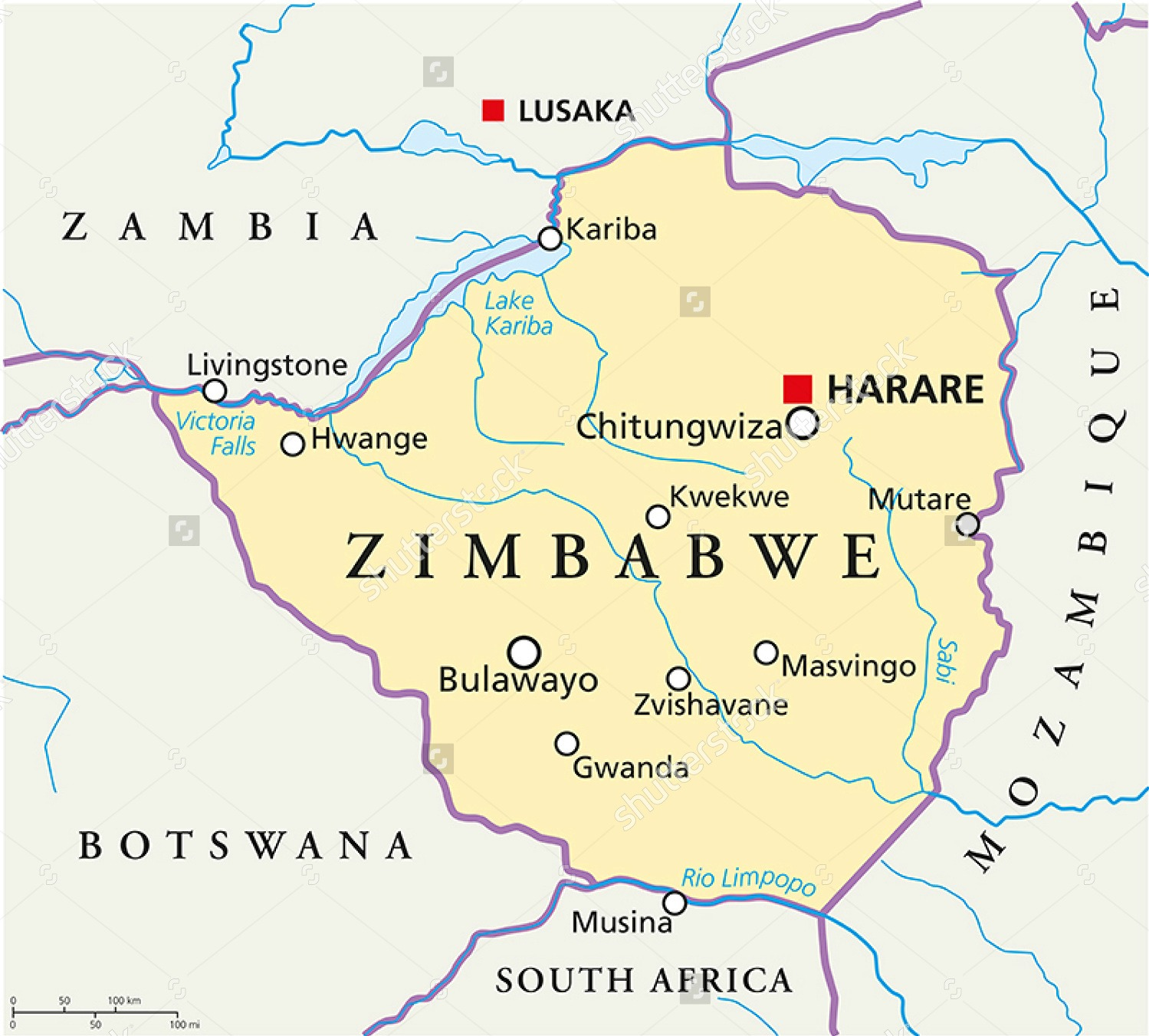 stock-vector-zimbabwe-political-map-with-capital-harare-with-national-borders-most-important-cities-rivers-211176790
